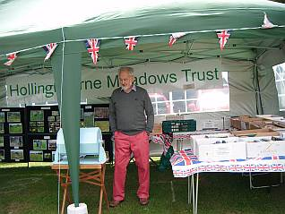 Peter at the Meadows Trust marquee