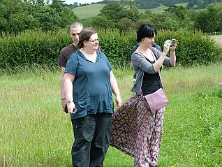 Cathy, Jenny, Ed and Rob visit the Flower Meadow (July 2012)